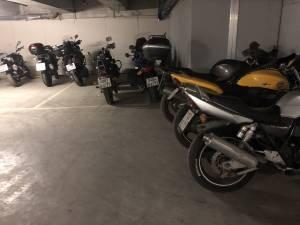 Упражнение парковка на мотоцикле